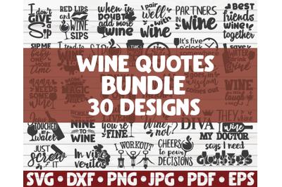Wine quotes SVG Bundle | 30 designs