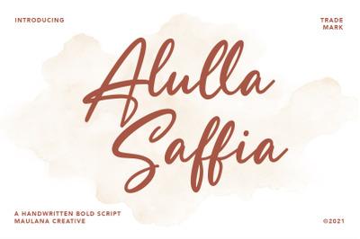 Alulla Saffia Handwritten Script