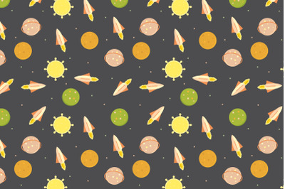cute space object pattern