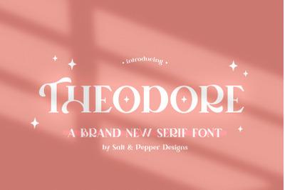 Theodore Serif Font (Serif Fonts, Craft Fonts, Logo Fonts)