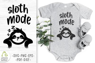 Baby sloth svg Baby bodysuit svg Baby animals svg Funny svg cut files