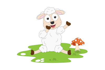 cute sheep animal cartoon