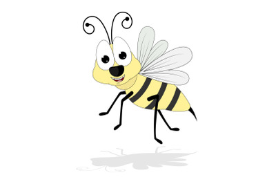 cute bee animal cartoon
