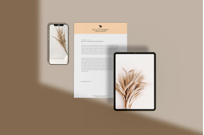 realistic Business Stationery Mockup