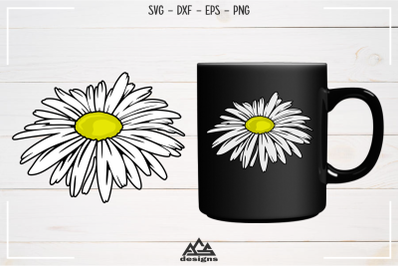 Daisy Flower Svg, Dxf, Eps, Png, Cutting File Design