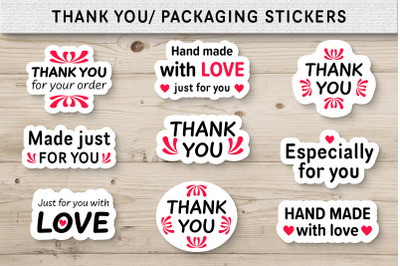 Thank you Packaging Stickers Bundle Small Business Labels