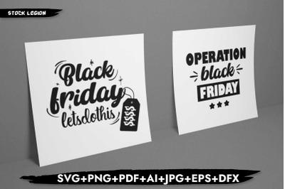 Black Friday Mix SVG