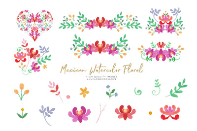 Mexican Flower Red Floral clipart,  Flowers Fiesta clip art