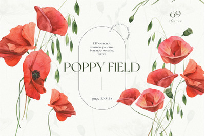 Poppy Field Watercolor Collection
