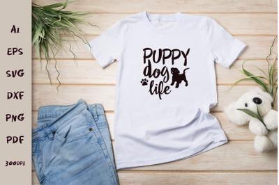 Puppy dog life. Svg