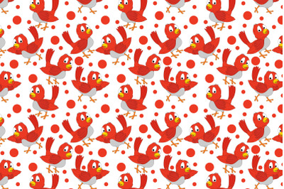 cute bird animal cartoon pattern