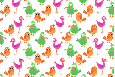 colorful animal bird pattern