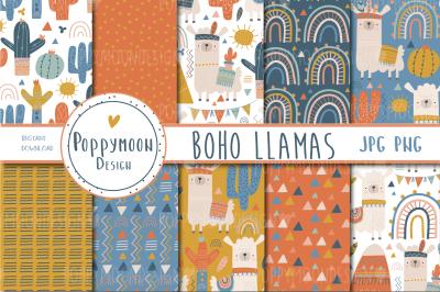 Boho Llama paper set