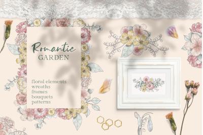 Romantic Garden Watercolor Collection