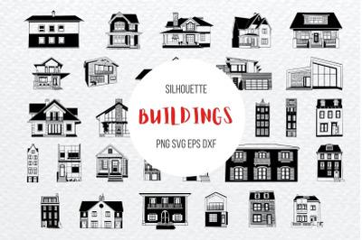 Buildings Silhouette Bundle