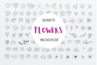 Flowers Silhouette Bundle