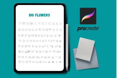 Flowers Procreate Stamps