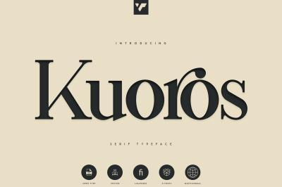 Kuoros Serif Typeface - 5 weights