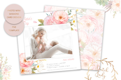 PSD Mother's Day Mini Session Card Template #77