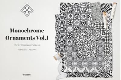 Monochrome Ornaments Vector Patterns Vol.1