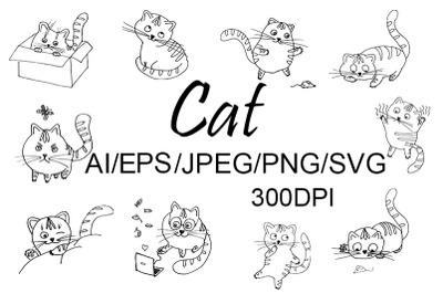 Cat SVG/PNG/EPS/JPEG/AI