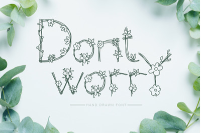 Dont Worry Hand Drawn Font