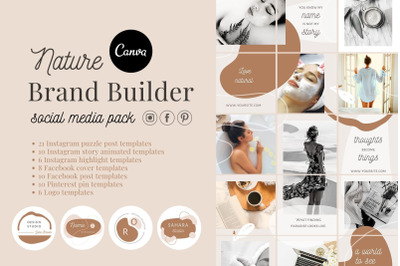 Canva branding kit Social media pack