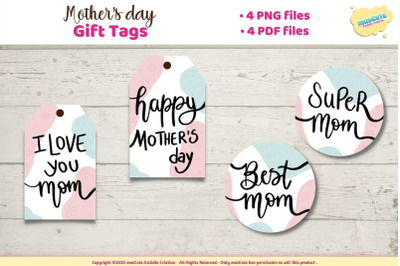 Gift tag mothers day, printable