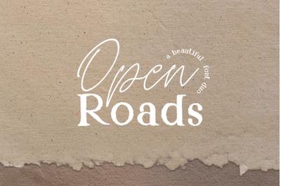 Open Roads Font Duo