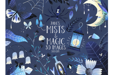 Watercolor Mists and Magic Clipart