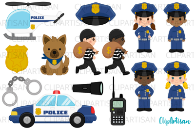 Cops Clipart, Police Officer Clip Art, Community Helpers