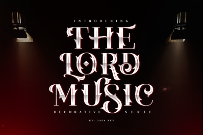 The Lord Music - Decorative font