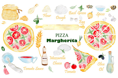 Pizza Margherita. Pizza party. Pizza birthday.