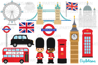 London Clipart, British Clip Art, England, Big Ben