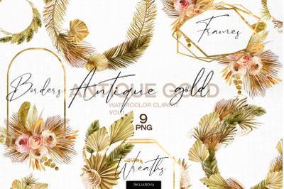 Antique gold. Frames set vol.1