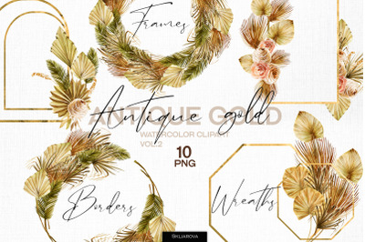Antique gold. Frames set vol.2