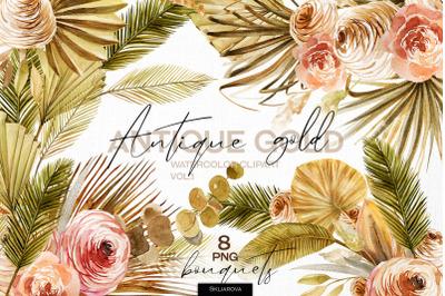 Antique gold. Bouquets set vol.1