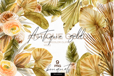 Antique gold. Bouquets set vol.2