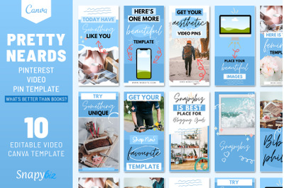Pretty and Vibrant Pinterest Template