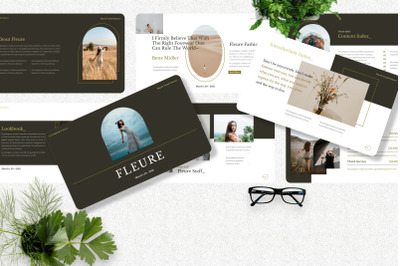 Fleure - Fashion Googleslide Template