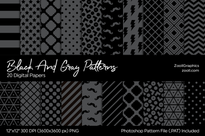 Black And Gray Digital Papers