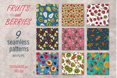 Fruits and Berries - Patterns
