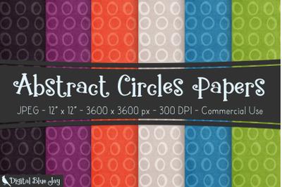 Digital Scrapbook Papers - Abstract Circles