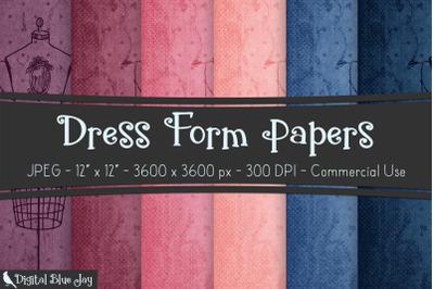 Digital Scrapbook Papers - Dress Form