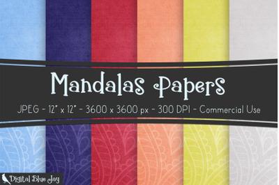 Digital Scrapbook Papers - Mandalas
