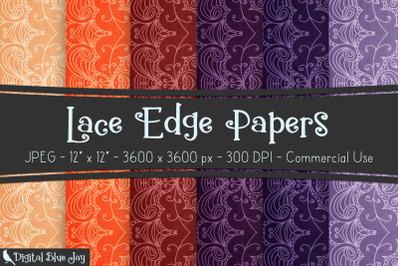 Digital Scrapbook Papers - Lace Edge