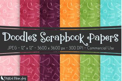 Digital Scrapbook Papers - Doodles
