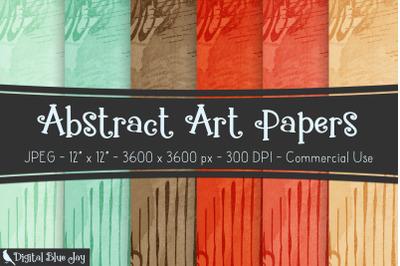 Digital Scrapbook Papers - Abstract Art