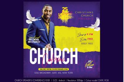 Church Speaker's Conference Flyer
