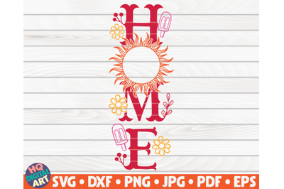 Home Porch Sign SVG | Summer themed